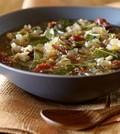 Česnova juha z ohrovtom in rižem