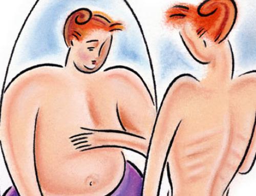 Kako notranji konflikti ali občutki krivde vplivajo na prehranjevanje in doživljanje lastne podobe?
